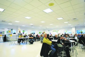 Dozens of concerned citizens were in attendance for the twice-annual meeting.