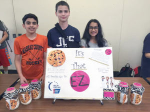 Students gather during the Gourmet Cookie Mix Sales Bazaar.