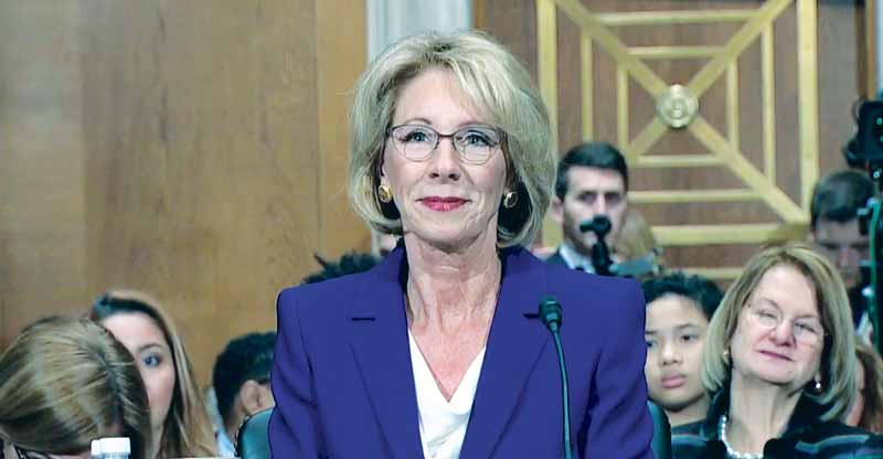Betsy DeVos, President Trump's controversial nominatee for Secretary of Education